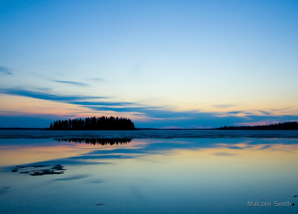 Sunset over Lake by Malcolm  Smith