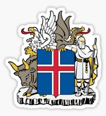 Iceland coat of arms Sticker