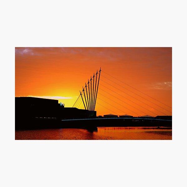 Sundown, Salford Photographic Print