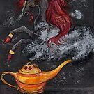 Black Genie Unicorn by Stephanie Small