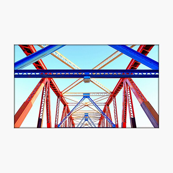 Bright iron bridge Photographic Print