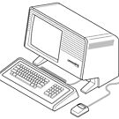 Classic retro/vintage computer by Zern Liew