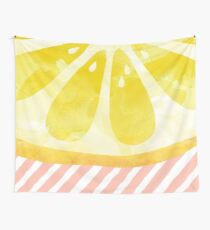 Lemon Abstract Wall Tapestry