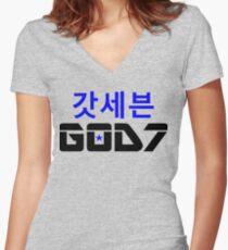 ♫❤I Love GOD7-KPop Forever❤♪ Women's Fitted V-Neck T-Shirt