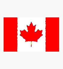 Fancy Flag Canada Photographic Print