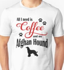 Coffee and my Afghan Hound Unisex T-Shirt
