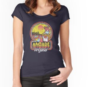 Tailliertes Rundhals-Shirt