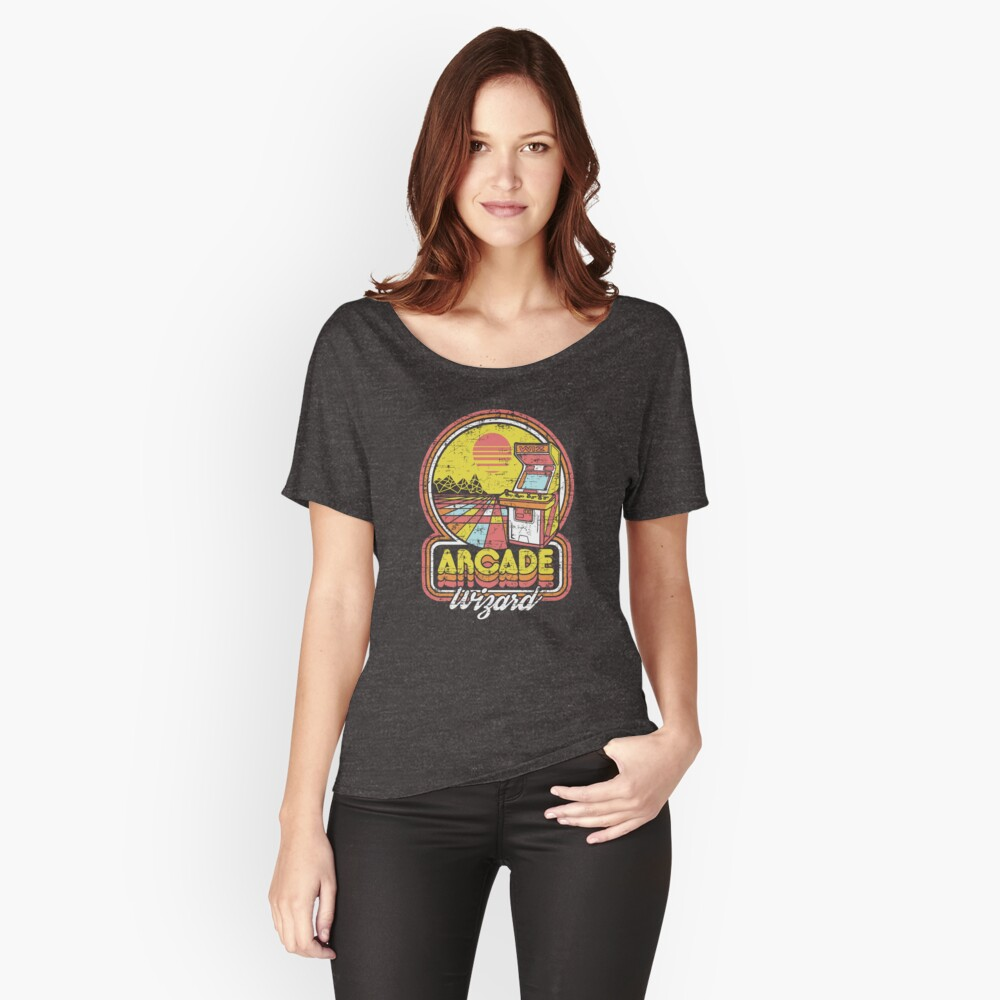 Arcade Wizard Women's Relaxed Fit T-Shirt Front