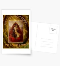 PSYCHIC FORTUNES: Vintage Fortune Telling Print Postcards