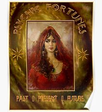 PSYCHIC FORTUNES: Weinlese Fortune Telling Print Poster