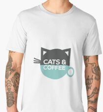 Cats and Coffee Men's Premium T-Shirt