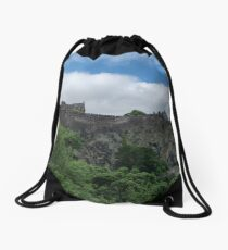 Edinburgh Castle in Scotland Drawstring Bag