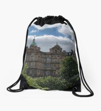 The Old Town of Edinburgh in Scotland Drawstring Bag