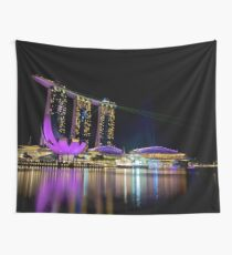 Singapore Marina Bay Sands Hotel Wall Tapestry