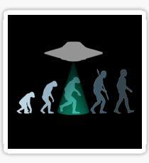 Evolution of man - UFO Sticker