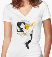 Powidoki Powidokow Women's Fitted V-Neck T-Shirt