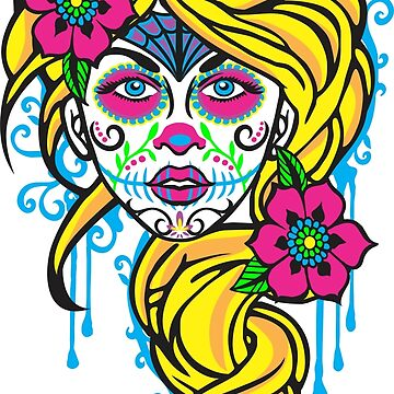 FEMALE SUGAR SKULL by will787pr