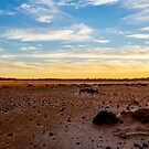 Sunset on Lake Dundas by Peter Rattigan