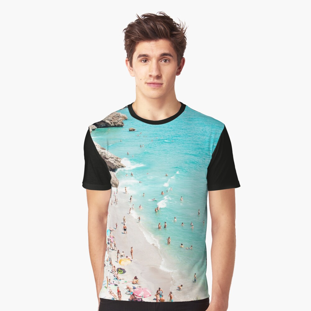 Coastal, Beach art, Blue Water, Sea, Ocean Graphic T-Shirt