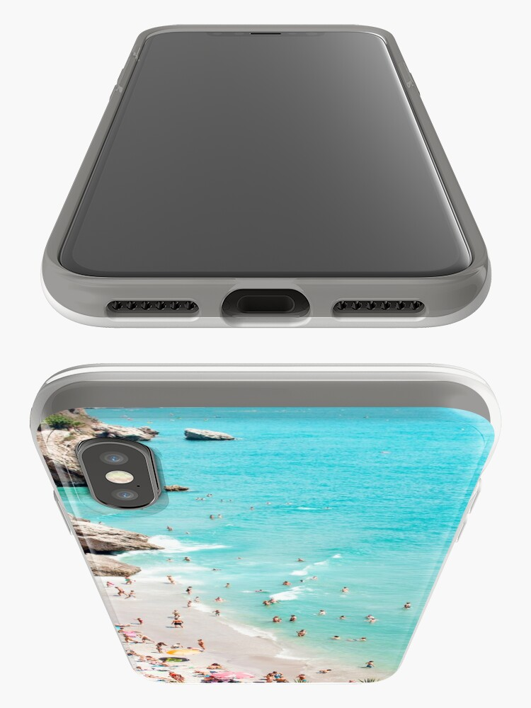 Alternate view of Coastal, Beach art, Blue Water, Sea, Ocean iPhone Case & Cover