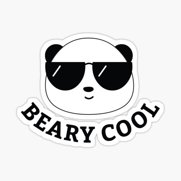 Beary Cool Panda Sticker