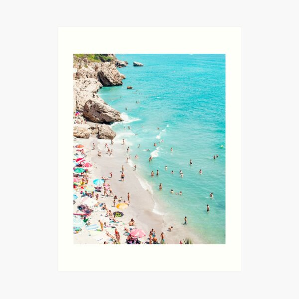 Coastal, Beach art, Blue Water, Sea, Ocean Art Print