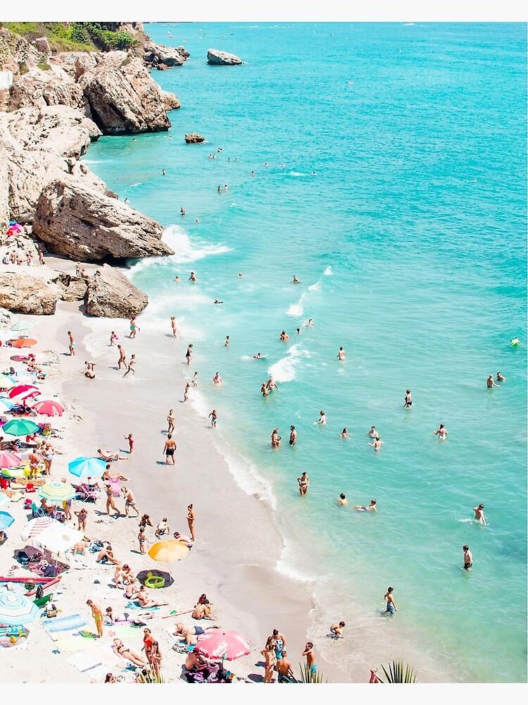 Coastal, Beach art, Blue Water, Sea, Ocean by juliaemelian