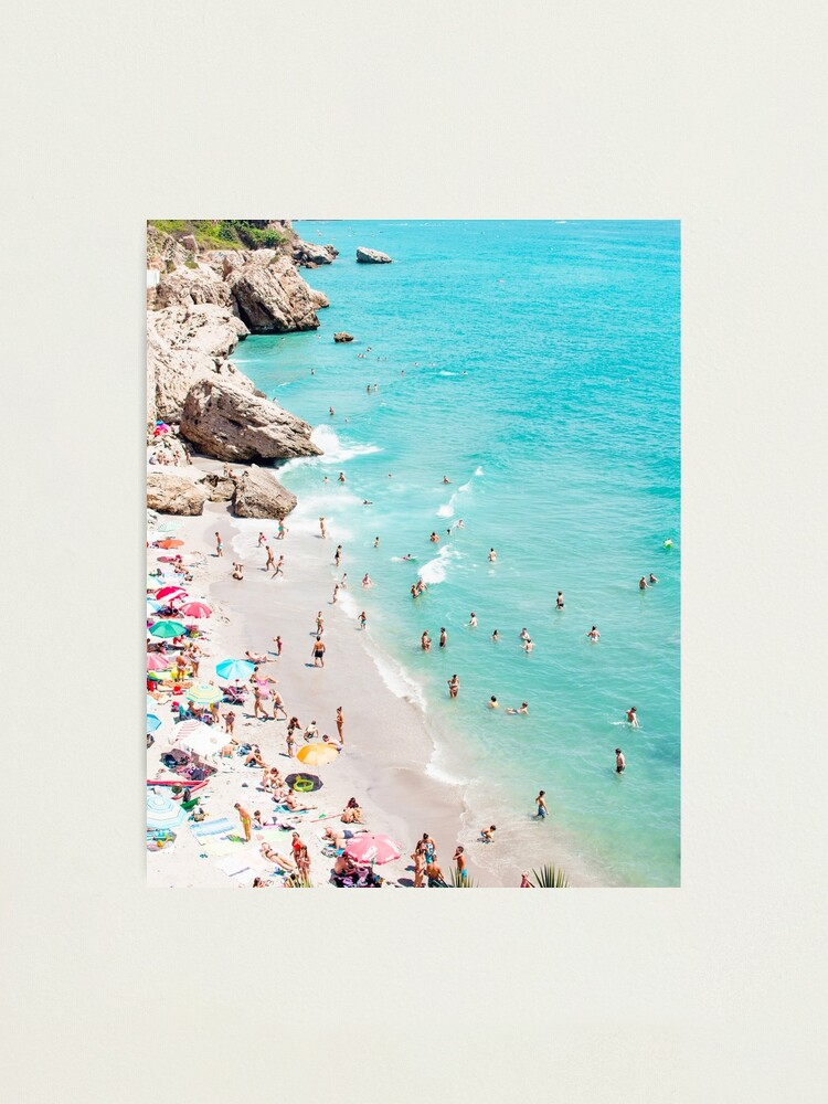 Alternate view of Coastal, Beach art, Blue Water, Sea, Ocean Photographic Print