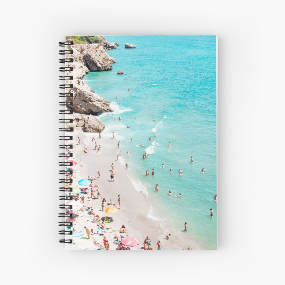 Coastal, Beach art, Blue Water, Sea, Ocean Spiral Notebook