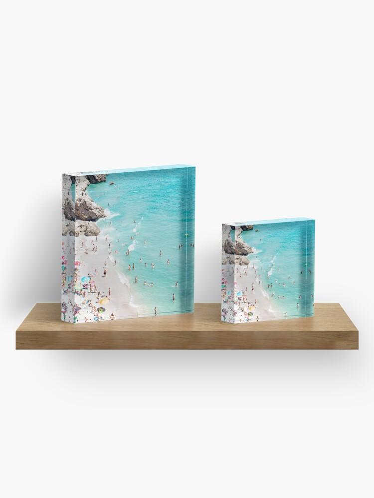 Alternate view of Coastal, Beach art, Blue Water, Sea, Ocean Acrylic Block