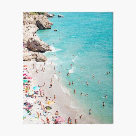 Coastal, Beach art, Blue Water, Sea, Ocean Art Board Print