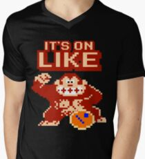 It's On Like Kong Gamer Computer Geek Donkey Kong  Men's V-Neck T-Shirt