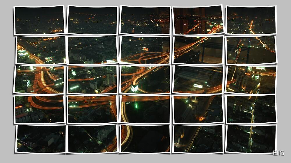 Night Scape Bangkok by EliG