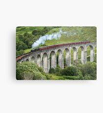 The Jacobite crossing Glenfinnan Viaduct Metal Print