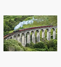 The Jacobite crossing Glenfinnan Viaduct Photographic Print