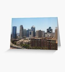 San Diego Cityscape Greeting Card
