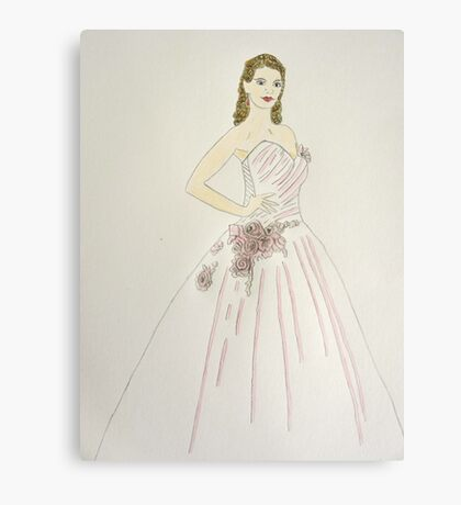 Wedding Dress No 6 Canvas Print