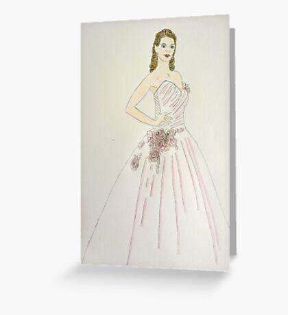 Wedding Dress No 6 Greeting Card