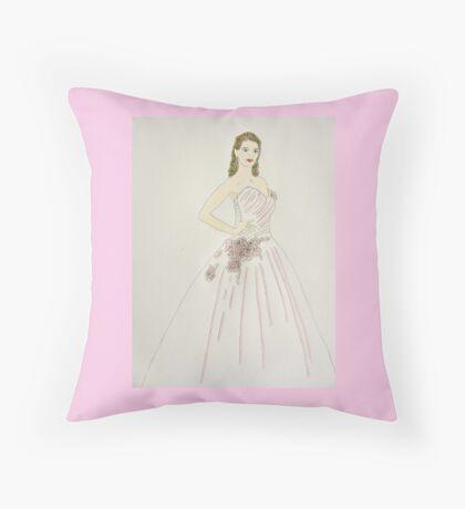Wedding Dress No 6 Throw Pillow