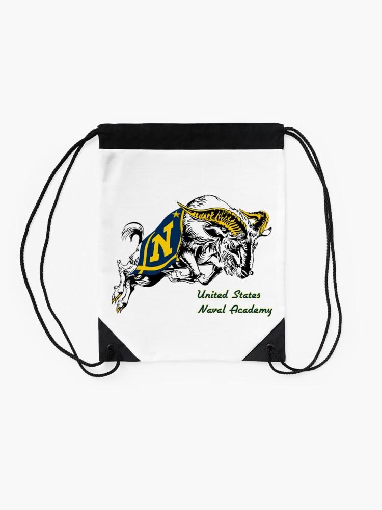 Alternate view of THE USNA Rampaging Goat! Drawstring Bag
