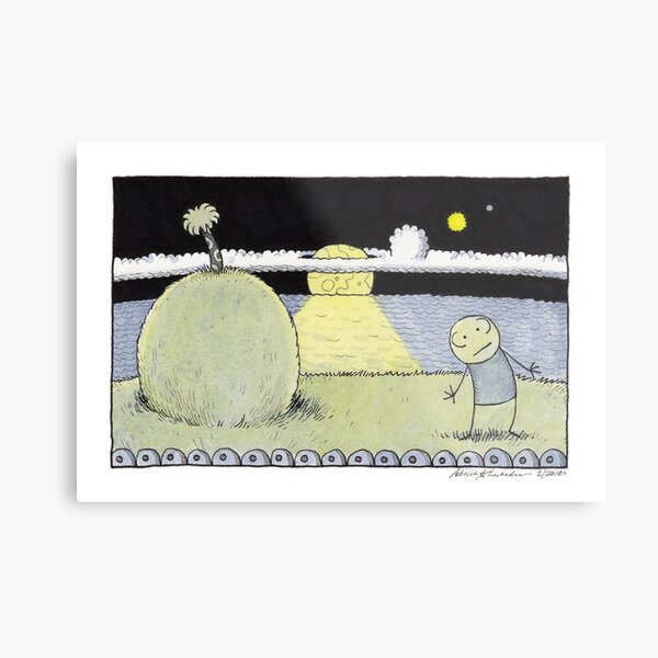 Raymondo Leaning in the Moonlight Metal Print