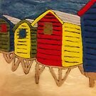 Beach Huts by Kirsty Harper