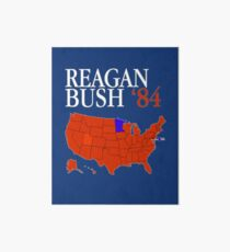 Reagan Bush '84 Retro Logo Red White Blue Election Map Ronald George 1984 84 Red States Electoral College Art Board