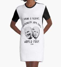 Vestido camiseta Gira mundial de Harmine Jam Band de Kaine y Biden