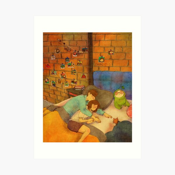 Napping together Art Print