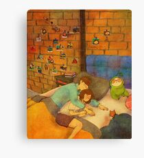 Arm pillow Canvas Print