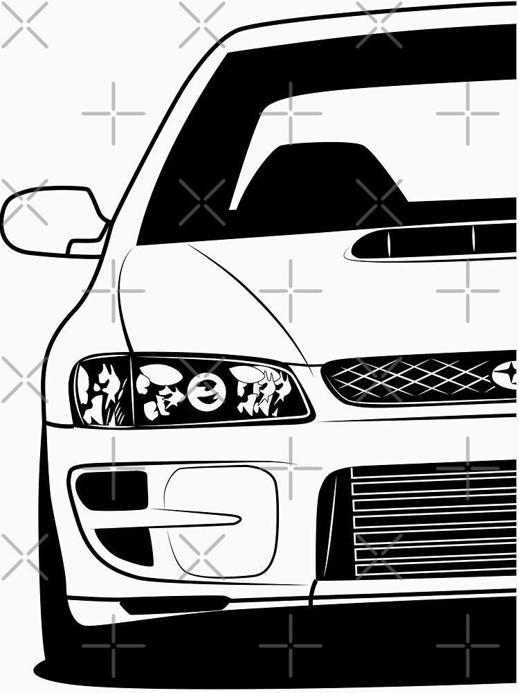 Subaru Impreza Gc Gc8 22b Best Shirt Design T Shirt By Carworld