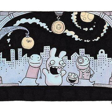 Nighttime City Strollers by zpxlng