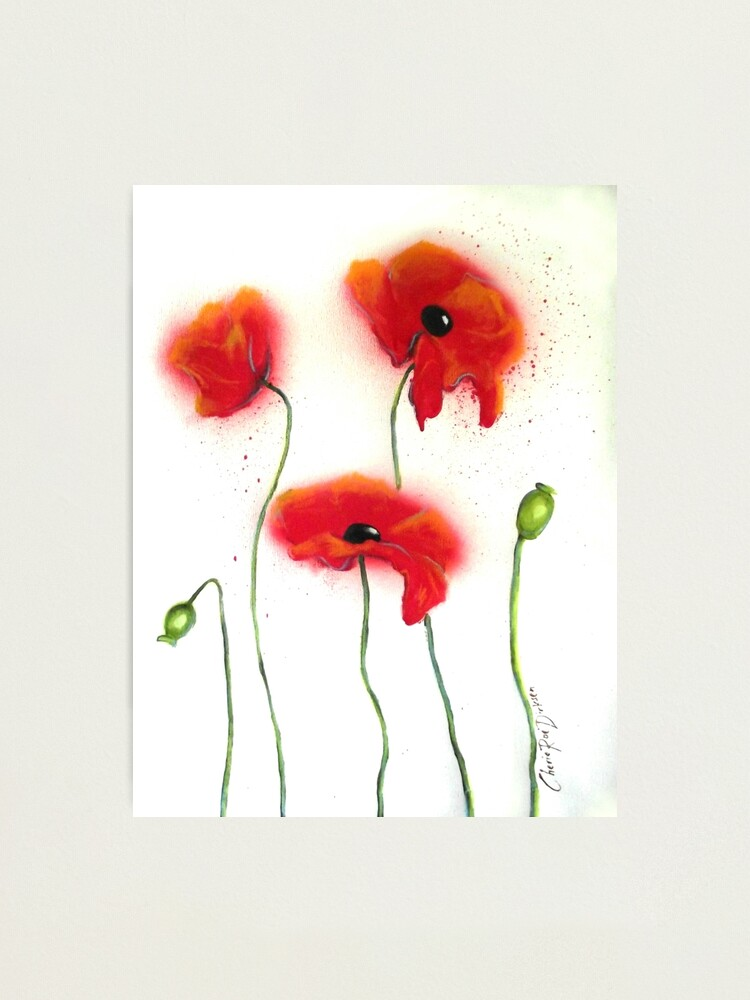 Alternate view of Abstract Red Poppies Photographic Print