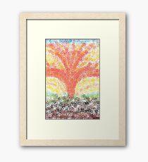 1012 - Mystic Phoenix rising fast Framed Print
